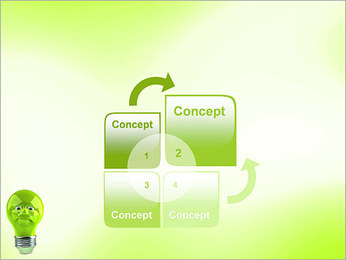 Green Lamp PowerPoint Template - Slide 5