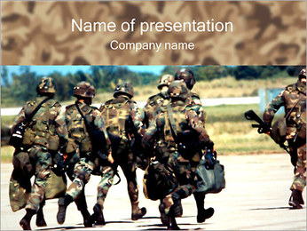 Running Soldiers PowerPoint Template