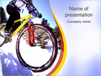 Winter Biking PowerPoint Template