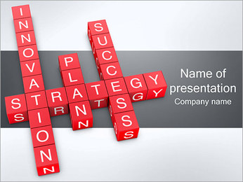 Strategy Crossword PowerPoint Template