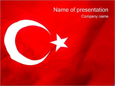 Turkey Flag Powerpoint Template Backgrounds Google Slides Id