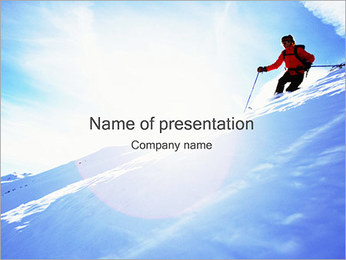 Skier PowerPoint Template