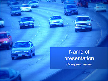 Traffic Cars PowerPoint Template