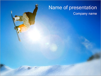 Snowboarder PowerPoint Template