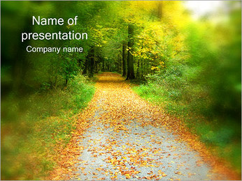 Forest Road PowerPoint Template