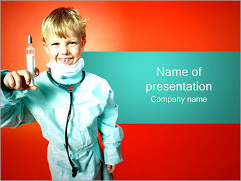 Little Boy Doctor PowerPoint Template