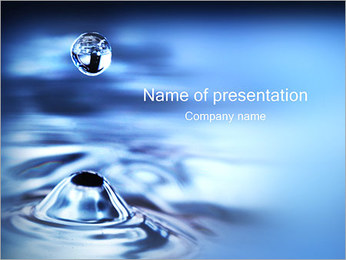 Water Drop PowerPoint Template