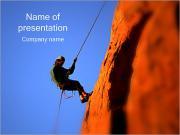 Rock Climber PowerPoint Templates