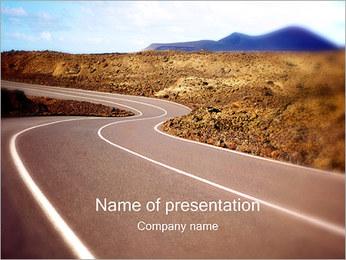 Winding Road Sjablonen PowerPoint presentatie