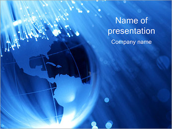 Globe and Optical Fibre PowerPoint Template