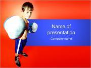 Little Boxer PowerPoint Templates