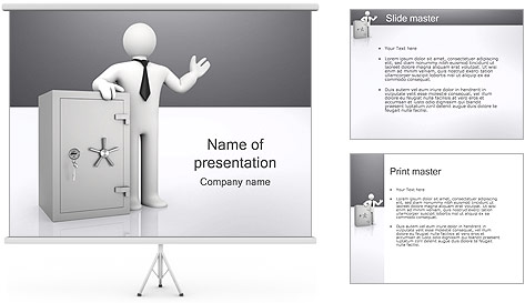 Safe Bank PowerPoint Template