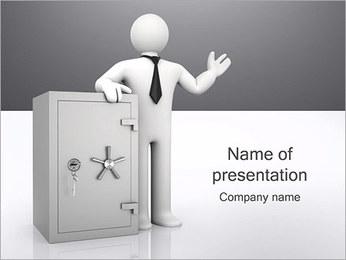Safe Bank PowerPoint Templates - Slide 1