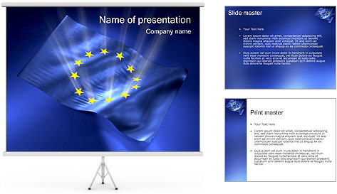 eu flag powerpoint template  backgrounds id, Powerpoint