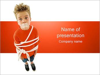 Tied Boy Sjablonen PowerPoint presentatie