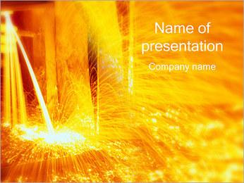 Acier fondu Modèles des présentations  PowerPoint
