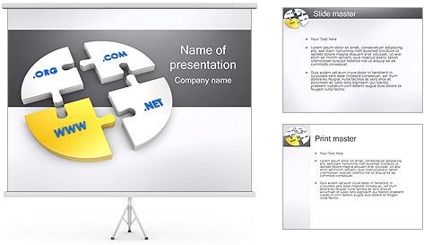 Domain Names PowerPoint Template