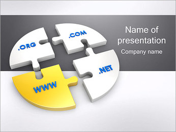 Domain Names PowerPoint Template - Slide 1