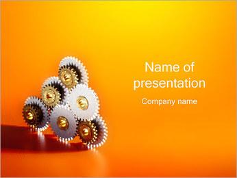 Gears PowerPoint Template - Slide 1