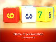 Игрушка блоков с номерами Шаблоны презентаций PowerPoint