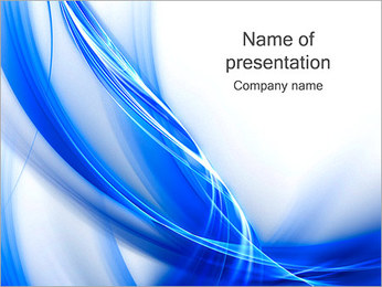 Blue Abstract Waves PowerPoint Template