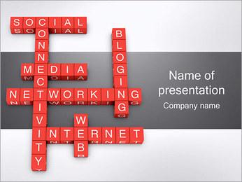 Networking Crossword PowerPoint Template