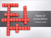 Networking Crossword PowerPoint Templates