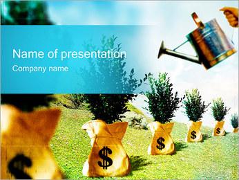 Stijging van de winst Sjablonen PowerPoint presentatie