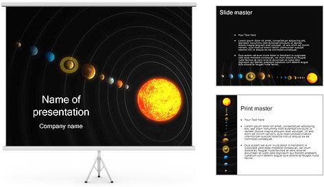 Système solaire Modèles des présentations  PowerPoint
