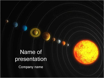 Système solaire Modèles des présentations  PowerPoint - Diapositives 1