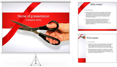Cutting the Ribbon PowerPoint Template