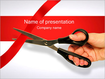 Cutting the Ribbon PowerPoint Template - Slide 1