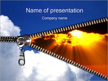 Zipper Opening Sunset PowerPoint Template