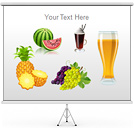 Food and Drink Set PPT Diagrams & Chart