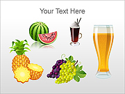 Food and Drink Set PPT Diagrams & Charts