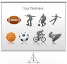 Sport Set PPT Diagrams & Chart