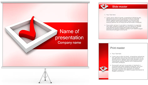 Check Symbol PowerPoint Template