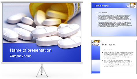 Pill bottle powerpoint template backgrounds id for Pharmacology powerpoint templates free download