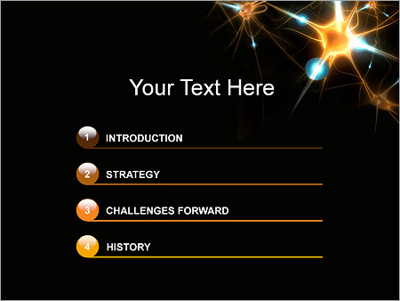 Nerve Cell Powerpoint Template Backgrounds Google Slides Id