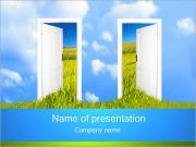 Зеленые Двери Шаблоны презентаций PowerPoint