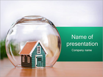 ハウスクローズ PowerPointプレゼンテーションのテンプレート