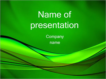Abstract Green Waves PowerPoint Template