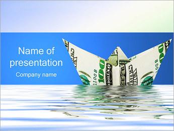 Money Ship PowerPoint Template