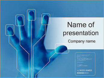 Security Hand Scanner PowerPoint Template