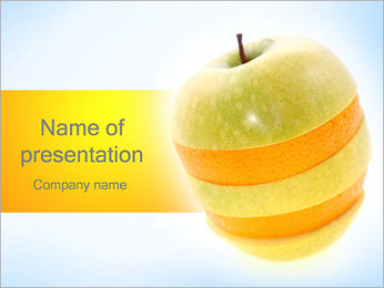 Apple and Orange PowerPoint Template
