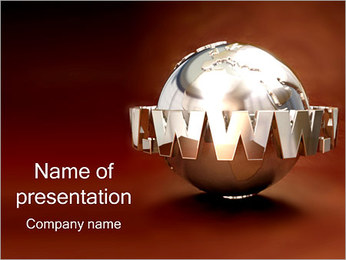 Globe and WWW PowerPoint Template