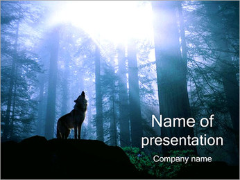 Wolf in Wood PowerPoint Template