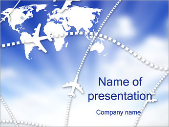 Air Travel Шаблоны презентаций PowerPoint