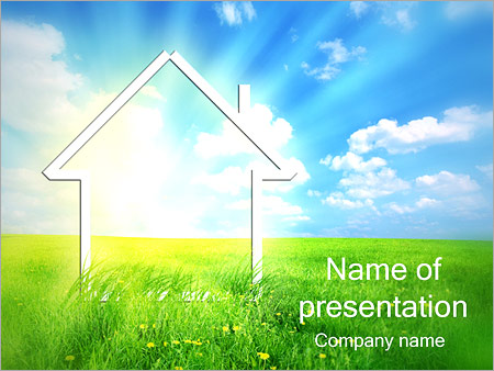 New House Powerpoint Template Backgrounds Id 0000001742