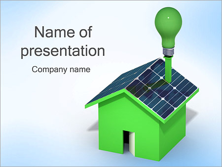 House with solar panels powerpoint template backgrounds id house with solar panels powerpoint templates toneelgroepblik Choice Image